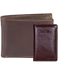 Hide & Sleek Men's Hunter Brown Leather Wallet & Brown Passport Holder. Pack Of 2