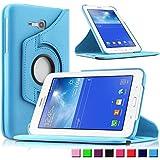 Infiland Samsung Galaxy Tab 3 7.0 Lite Funda Case-PU Cuero 360°Rotación Cover Cascara con Soporte para Samsung Galaxy Tab 3 7.0 Lite T110 T111 (7 Pulgadas) Tablet