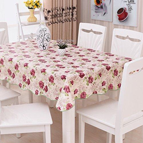 QPG PVC étanche Nappe Table résistant à l'huile Table ronde Tissu rectangulaire Tea Nappe (Couleur : A, taille : 4#)