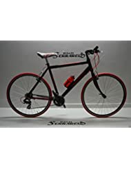 Bicicleta híbrida precorsa Corsa Strada Al.18Velocita 'negro rojo gris