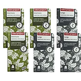 60 Mixed Eden Project Home compostable Nespresso Compatible Capsules (6 x 10) 51jUy 2BCCALL
