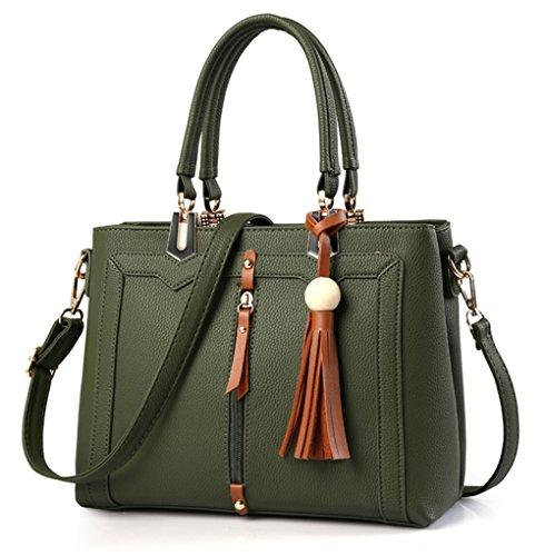 Xinmaoyuan Borse donna Ladies Handbag grande pacchetto di capacità retrò pacchetto diagonale Pu quadrato piccolo sacchetto Verde