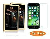 [2er Pack] Panzerglas iPhone 7 Panzerfolie Panzerglasfolie Displayschutz Schutzglasfolie Hartglas 9H HD gehärtetes Glas - Blasenfrei✓Anti-Fingerabdruck✓Anti-Splitterschutz✓9H Härte✓HD✓Easy-On✓3D Touch✓