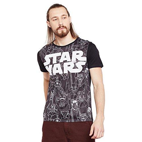 Star Wars Black Cotton Polyester T-shirt For Men STWR0072_4XL