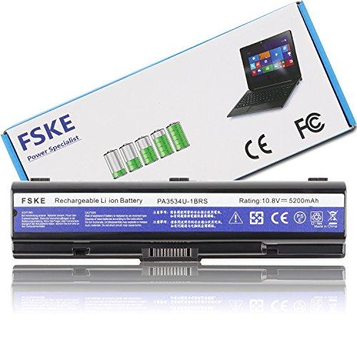 FSKE® PA3534U-1BRS PA3534U PA3533U-1BRS PA3535U Akku für Toshiba Satellite P300 L300 L450 L500 L550 L555 L350 A300 A200 A205 A210 A500 Dynabook Equium Notebook Battery, 10.8V 5200mah 6-Zellen