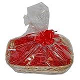 Medium Willow Basket DIY Hamper Kit – Red