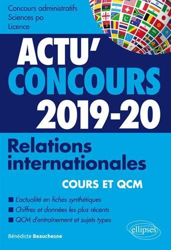 Relations internationales 2019-2020 - Cours et QCM par Beauchesne Bénédicte