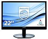 Philips 221B6LPCB/00 21,5 cm (21,5 Zoll) Monitor (VGA, DVI, 2X USB, 1920 x 1080, höhenverstellbar, Pivot, integrierte Lautsprecher) Schwarz