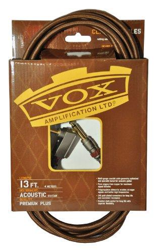 Vox VAC-13BR - Cable para guitarra jack (profesional, 4 m, trenzado, conector chapado en oro)
