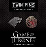 Game of Thrones Twin Pins: Stark and Targaryen Sigils: Two Enamel Pins