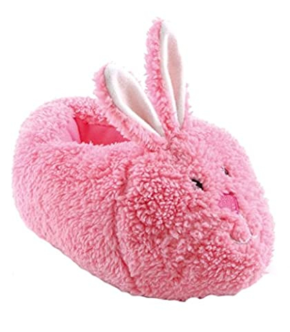 NEW GIRLS KIDS CHILDRENS HUGE RANGE OF SLIPPERS BOOTS WINTER BOOTIES FUR LINED PINK RABBIT SIZE UK 11-12