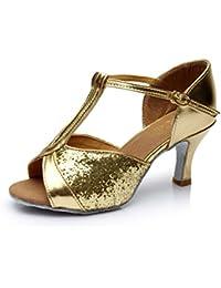 JSHOE Zapatos De Baile T-Strap Para Mujer Salsa / Tango / Chacha / Samba / Modern / Jazz Shoes Sandalias Tacones...