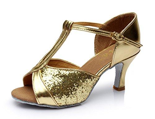 JSHOE Womens T-Strap Chaussures De Danse Salsa / Tango / Chacha / Samba / Moderne / Jazz Chaussures Sandales Talons Hauts