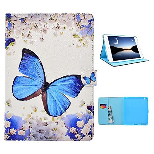 Coque iPad 2/3/4, Moon mood® Etui en PU Cuir Doux TPU Intérieur pour Apple iPad 2 3 4 Flip Cover Case Support de Stand Portefeuille avec Bouton Magnétique Fente pour Carte Cas Coquille