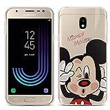VCOMP Coque silicone TPU Transparente Ultra-Fine Dessin animé jolie Thème Noël pour Samsung Galaxy J3 (2017) J330F/DS/ J330G/DS/ J3 Pro (2017) [Les Dimensions EXACTES du telephone: 143.2 x 70.3 x 8.2 mm] - Mickey Mouse