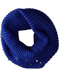 Steve Madden Women's Spiked Punch Snood Royal Scarf One Size