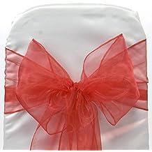 EDS - Lote de 50 lazos de organza para decorar sillas en banquetes de boda y otras celebraciones, más de 30 colores