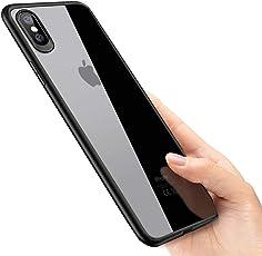 phixilin iPhone XS Max Handyhülle Crystal Schutzhülle iPhone XS Max Silikon Hülle Ultra Dünn Stoßfest Anti-Scratch TPU Bumper Case für iPhone XS Max Case Cover - Jet Schwarz
