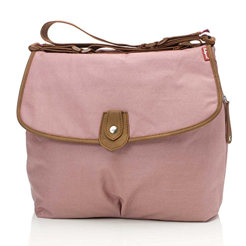 Babymel Wickeltasche Satchel Oyster / Rosa - BM6310 Limited Edition (Limited Edition Messenger)