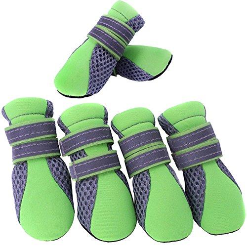 Semoss Atmungsaktiv Anti Rutsch Hunde Schuhe Pfotenschutz Boots Fur