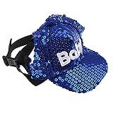 perfk Hundehut Hundecap Baseballmütze Baseball Cap Hut für Outdoor Sport - Style 3 - S