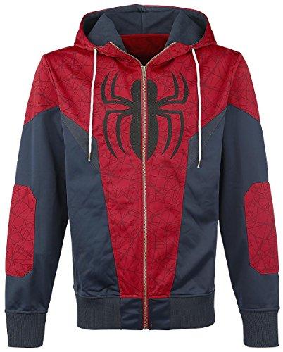 Spider-Man Logo Kapuzenjacke Rot/Blau XXL
