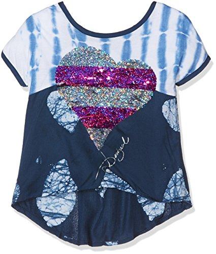 Desigual Mädchen T-Shirts Cam_Chow, Blau (Midnight 5040), 152 (Herstellergröße:11/12) (Midnight Cami)