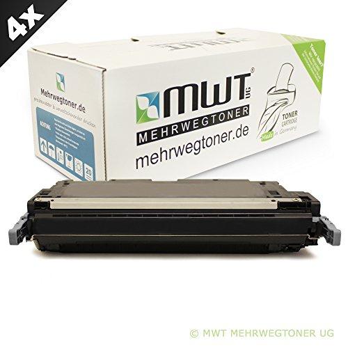 4x MWT Remanufactured Toner für HP Color LaserJet 4600 4610 4650 wie C9720A 641A Black