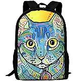 HOJJP HandtascheMost Durable Lightweight Funny Canvas College Student Bag Bookbag - Burmese Cat
