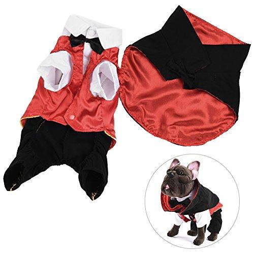 g, PET Halloween-Kostüm Charming Hund Fancy Kleidung Süßer Hund Funny, Bekleidung mit Rückseite Umhang und Schnappverschluß, Vampire Stil, geeignet für kleiner Hunde (Süße Vampir-outfits)