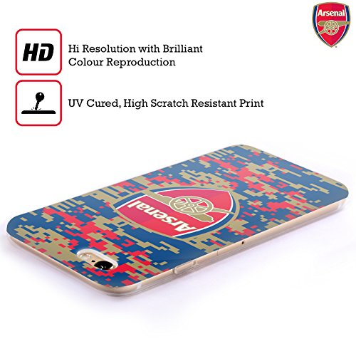 Officiel Arsenal FC Marbre 2017/18 Modèles De Crête Étui Coque en Gel molle pour Apple iPhone 5 / 5s / SE Camouflage Digitale