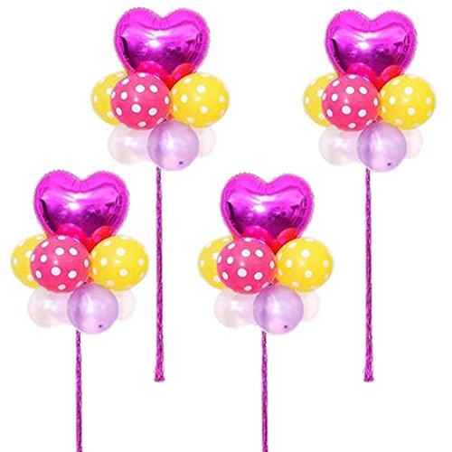 Koala Superstore Party-Ballons arrangieren in Gruppen Set 4 Latex Hochzeits-Stern Herz-Förmigen Geburtstag