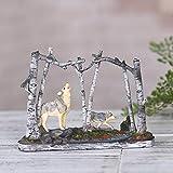 Skulptur Kunstwerk WYQLZ Desktop Dekor Moderne Minimalistische Harz Skulptur White Birch Forest Wolf Ornamente Retro Tierheim Wohnzimmer TV Kabinett Büro Handwerk Dekoration Geschenk