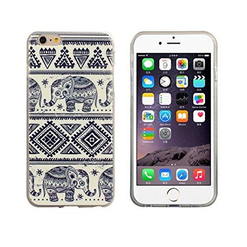 Sannysis(TM)New Tribal Elephant Case Soft TPU Cover Case For iPhone 6 Plus 5.5 inch