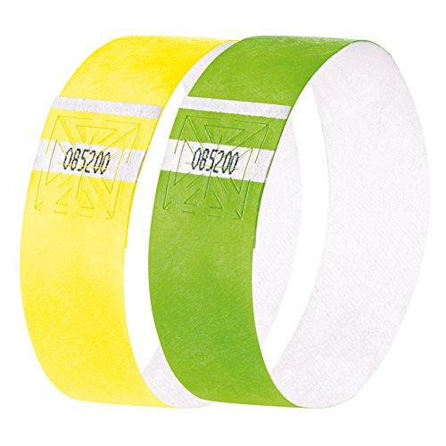SIGEL EB219 Eventbänder Super Soft, Gelb und Grün fluoreszierend, 2 x 60 Stück