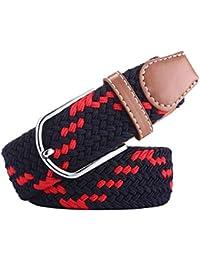 Huixin Lona De Los Hombres Web Militar Cinturón Regalos Elegante Cinturón  Unisex Transpirable Tejido Cinturón Elástico ef7e4f163d86