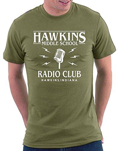 Stranger Things Radio Club T-shirt Khaki
