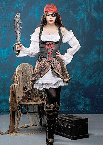 Damen Buccaneer Babe-Piraten-Kostüm S (UK (Buccaneer Kostüme Babe)