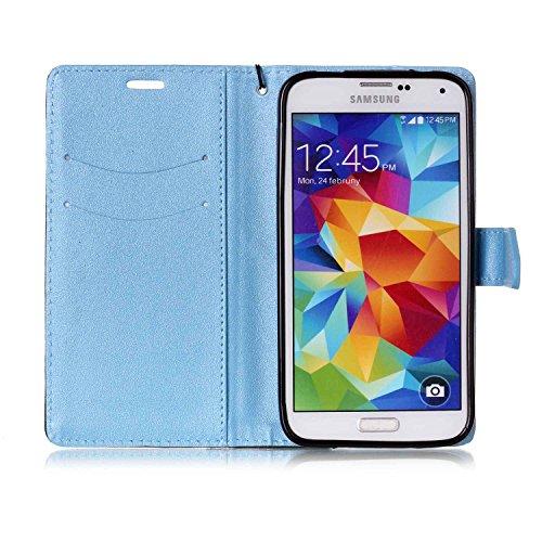 Galaxy-S5-Custodia-Galaxy-S5-Custodia-Portafoglio-Galaxy-S5-I9600-Custodia-Pelle-JAWSEU-Lusso-Matt-Magic-Patchwork-PU-Leather-Flip-Cover-Custodia-per-Samsung-Galaxy-I9600-S5-Cover-Copertura-con-Super-