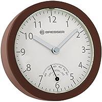 Bresser 8020115HNAQUA MyTime Bath Mini Reloj de Baño, Color Marrón