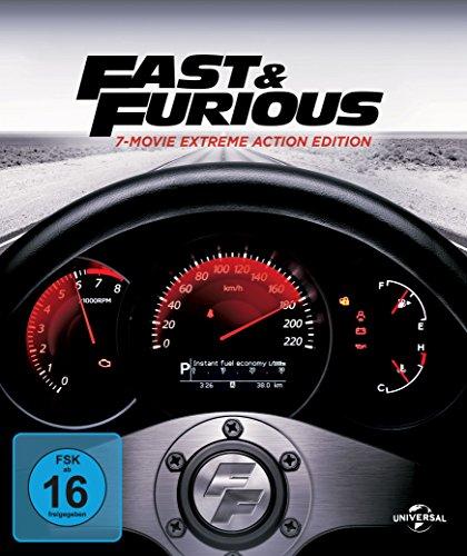 fast and furious 1 7 blu ray Fast & Furious 1-7 + neue Bonus-Disc - Blu-ray (Digibook)