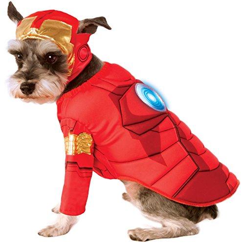ers Assemble Deluxe Iron Man Pet Kostüm, Mittel (Ironman-halloween-kostüm)