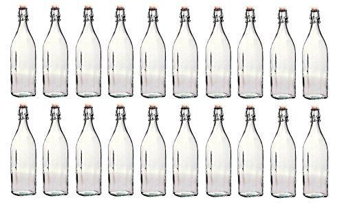 Swing Lot de 20 bouteilles en verre 1 L (Juste à temps pour l'été)