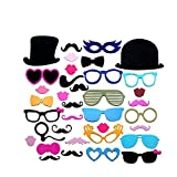#5: Christmas Decoration Colorful Photo Booth Props Set of 36 Mustache On A Stick Wedding Party Photobooth Funny Masks Bridesmaid Gifts for Wedding Decoration (36pcs Colorful Props)