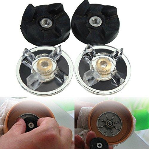 4pcs Reemplazo Combo piezas de goma con transmisi-n de engranajes del engranaje de repuestos para extractor del jugo de la bala m‡gica