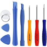 Fosmon 8 Piece Repair Tool Kit with 5-Point Pentalobe Screwdrivers for Phones, Electronic Devices and Mobile Devices iPhone 4 / 4S / 5 / 5S / 6 & 6 Plus / 6S & 6S Plus / 7 & 7 Plus / 8 / 8 Plus / X