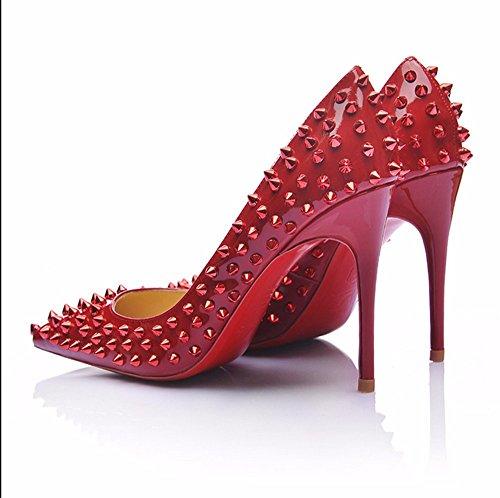 Chaussures pour femmespour Mariage / Partie & Soir / Robe / Rivet Talon occasionnels Cour Rouge Chaussures de talon de la pompe pour l'ocassion partie spéciale de la Fête des Mères, cadeau A