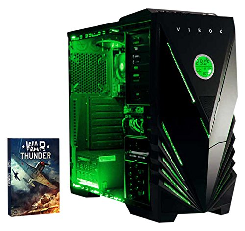 Cheapest Vibox Standard 3 Gaming PC – with Warthunder Game Bundle (3.1GHz AMD A8 Quad Core Processor, Radeon R7 Graphics Chip, 1TB Hard Drive, 8GB RAM, Vibox Predator Green LED Case, No Operating System) Reviews
