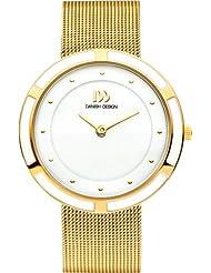 Danish Design - DZ120306 - Montre Femme - Quartz - Analogique - Bracelet Acier Inoxydable Doré