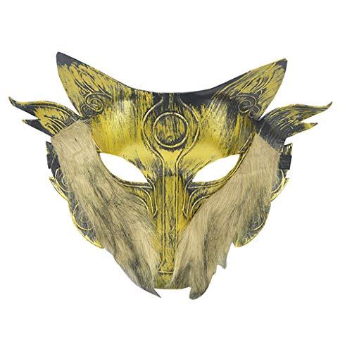 Haloween Kostüm Paare - Huacat Halloween Maske Cosplay Wolf Kostüm